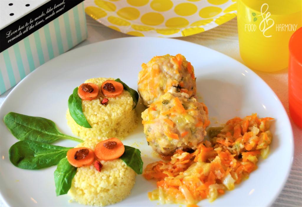 Klopsiki cielęce z soczewicą i warzywami