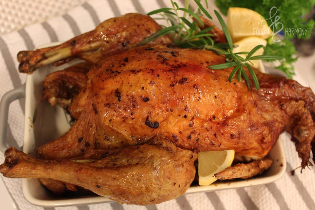 Pieczony kurczak z cytryną i rozmarynem