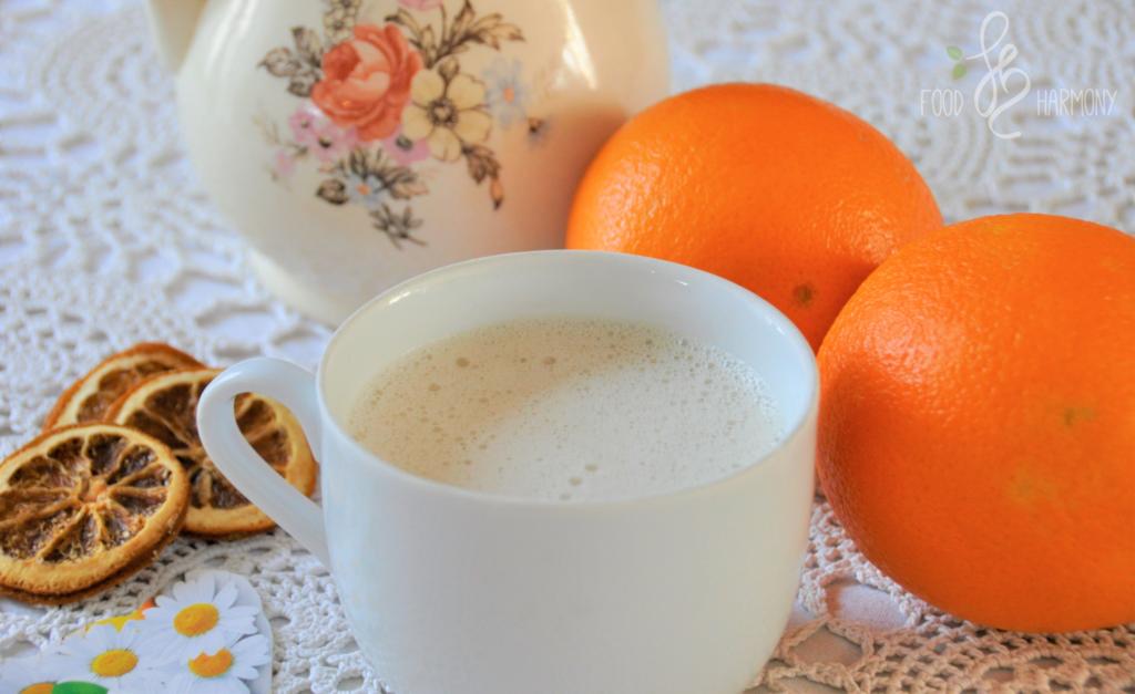 Uspokajający napój rumiankowo-pomarańczowy