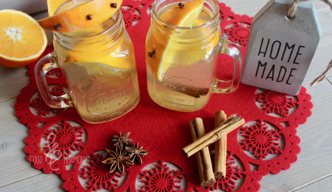 Rozgrzewacz pomarańczowy z cynamonem i goździkami