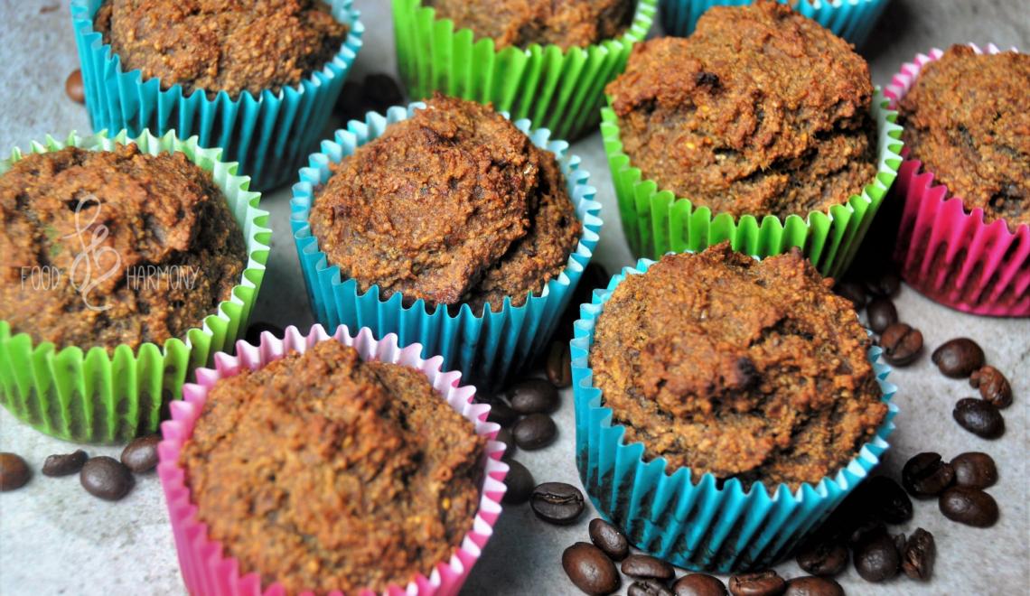 Muffiny kawowo-daktylowe - bez jajek