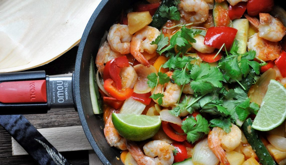 Azjatycki Słodko-kwaśny Stir Fry z krewetkami – lunch/ kolacja w 15 min