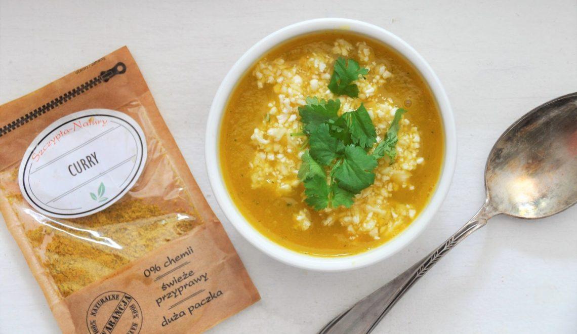 Krem curry  z ryżem kalafiorowym wg postu dr Dąbrowskiej