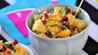 Photo of Sałatka owocowa z komosą ryżową – egzotyczne smaki w Twojej kuchni