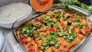 Photo of Wegetariańskie curry z dynią, ciecierzycą i pomidorami