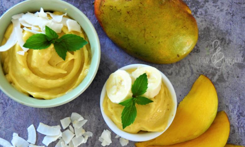 Photo of Egzotyczne lody z mango i ananasa