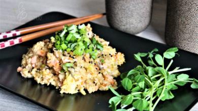 Photo of Smażony ryż z wędzonym łososiem