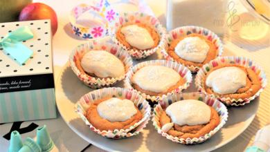 Photo of Muffiny bezglutenowe z mango i brzoskwiniami