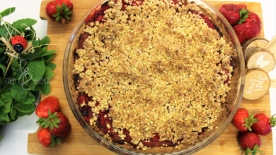 Photo of Tarta z rabarbarem i truskawkami – bez glutenu